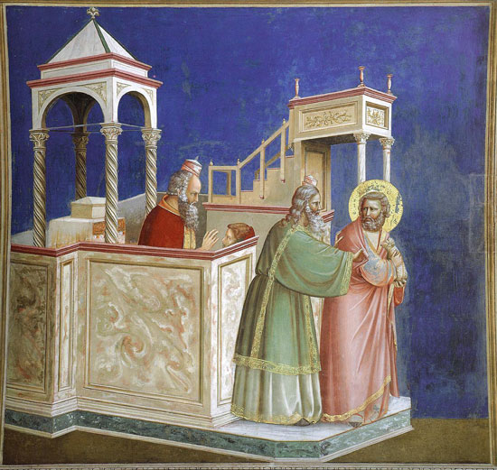 Joachim expelled from the temple, Giotto