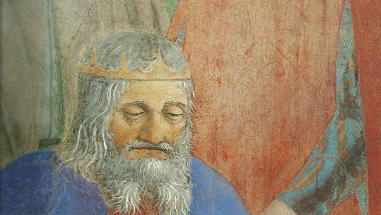 Piero della Francesca, Legend of the True Cross, Battle between Heraclius and Chosroes, detail