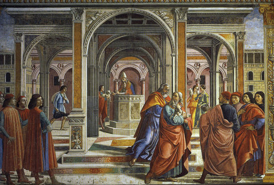 Ghirlandaio, Expulsion of Joachim from the Temple