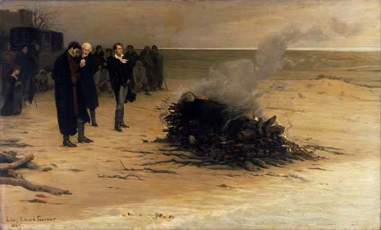 Funeral of Shelley, Fournier