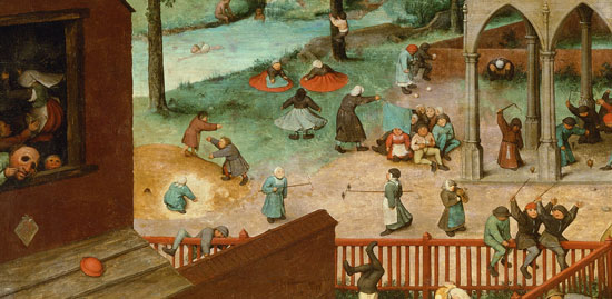 Pieter Bruegel, Children's Games, detail