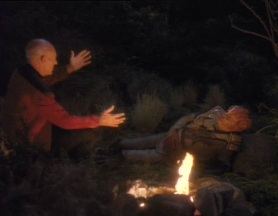 Picard and Dathon on El'Adrel