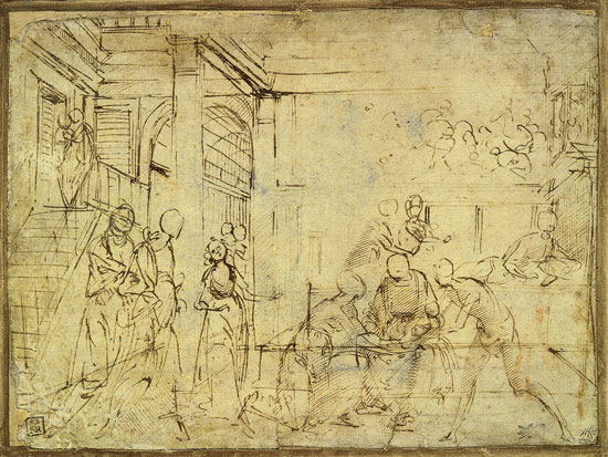 Study for The Birth of the Virgin, Ghirlandaio