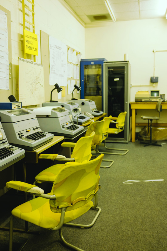 Interior of Kelvedon Hatch Nuclear Bunker