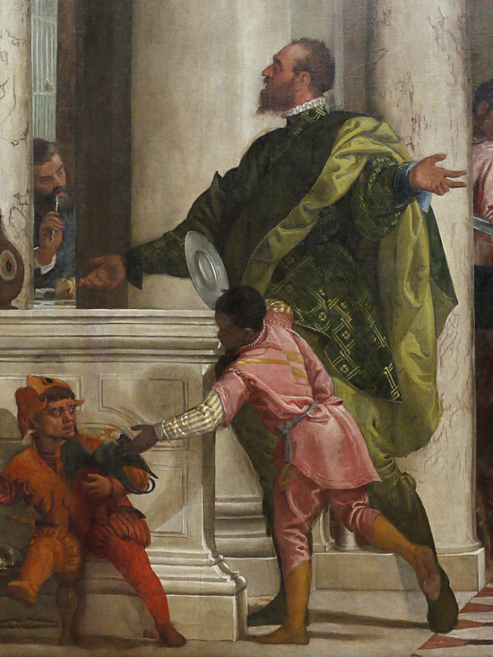 Feast in the House of Levi, Paolo Veronese, Jester