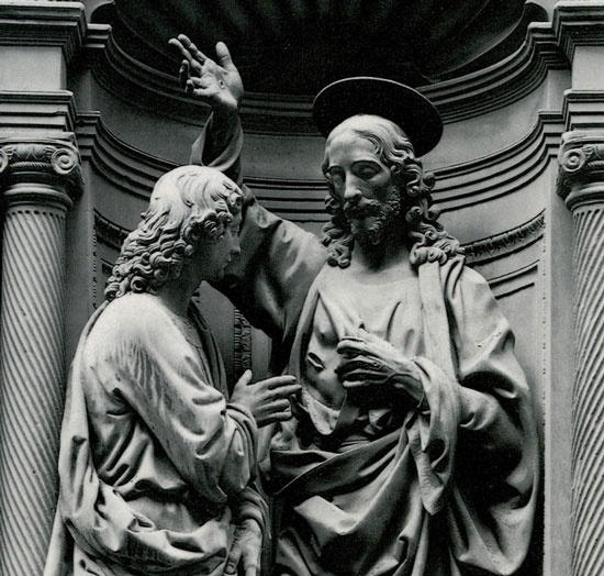 Andrea del Verrocchio, Christ and St. Thomas