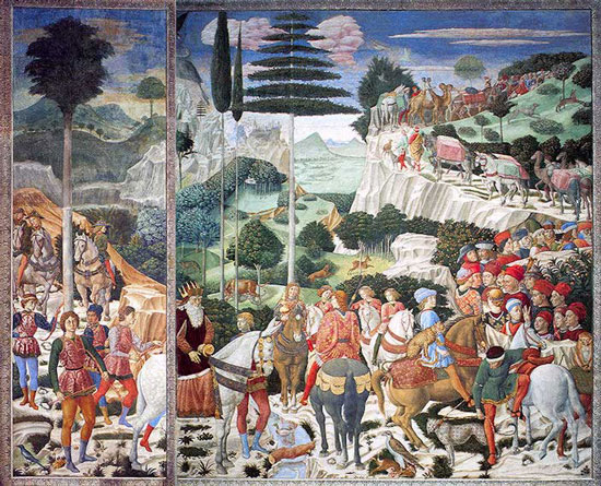 Procession of the Magi, Benozzo Gozzoli