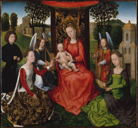 Mystic Marriage of St. Catherine, Hans Memling
