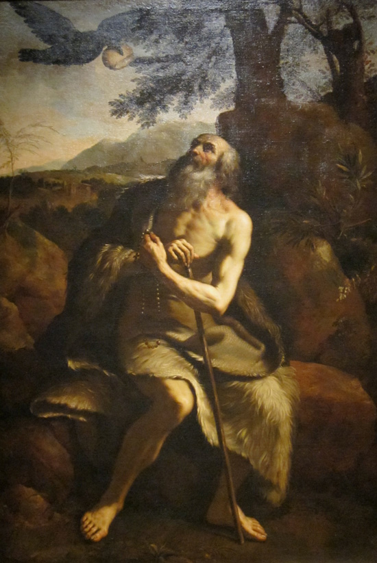 St. Paul the Hermit fed by a raven, after Guercino