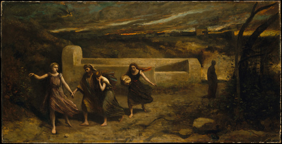 Burning of Sodom, Camille Corot