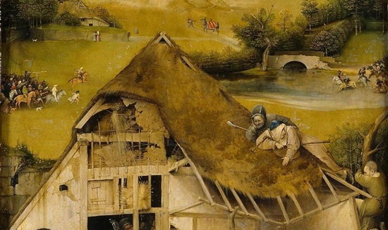 Hieronymus Bosch, Adoration of the Magi, detail