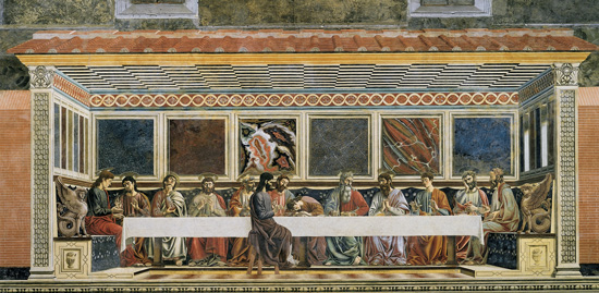 Last Supper, Andrea del Castagno