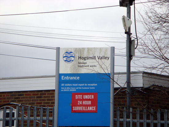 Hogsmill Valley Sewage Works