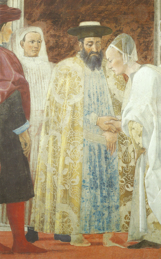 Piero della Francesca, Legend of the True Cross, Meeting of Solomon and the Queen of Sheba