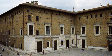urbino east front entrance