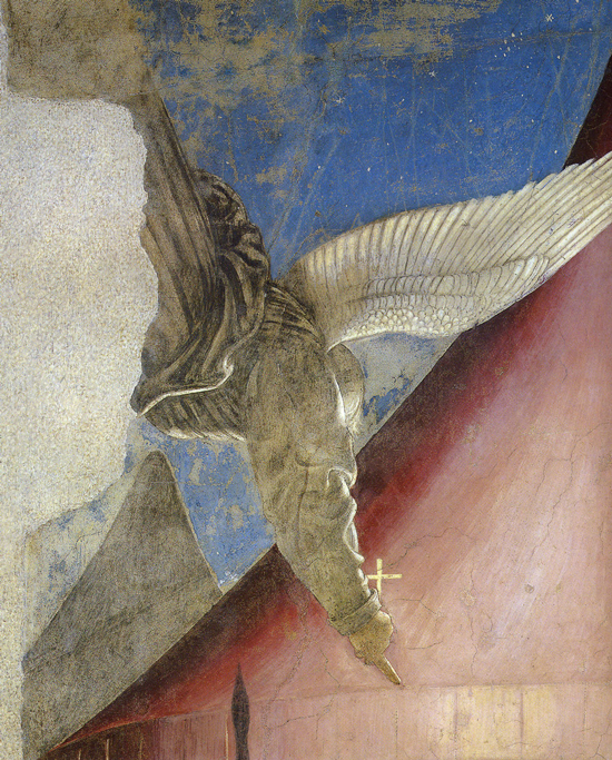 Piero della Francesca, Legend of the True Cross, Dream of Constantine, detail